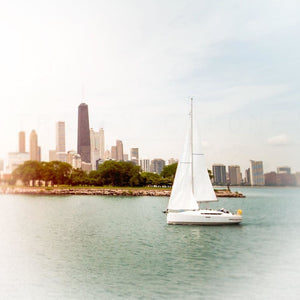 Glorious Day | Sailboat & Chicago Skyline-Tracey Capone Photography