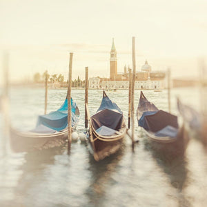 Golden Hour On The Canal | Venice Gondola Photograph Tracey Capone Photography