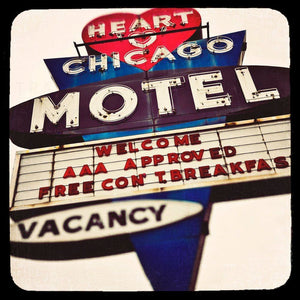 Heart O'Chicago | Chicago Motel Sign Art-Tracey Capone Photography