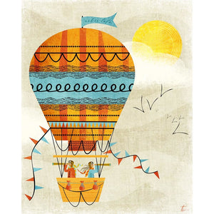 Hot Air Balloon Illustration | Vintage Style | Nursery Decor