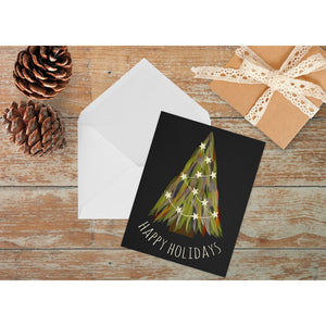 Illustrated Christmas Tree Holiday Card | A2 Size Holiday Cards