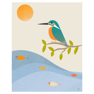 Illustration Of Kingfisher Bird Art For Nursery Walls Tracey Capone Photography