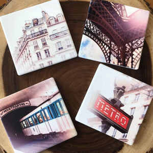 Je Taime Paris Four Coaster Set Tracey Capone Photography