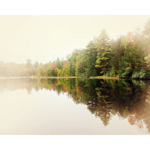 Lake Reflection Photograph | Autumn Wall Art | Poconos Pennsylvania Tracey Capone Photography