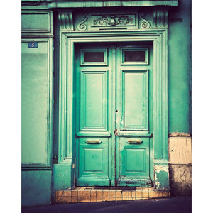 No. 3 | Green Door in Montmartre Paris-Tracey Capone Photography