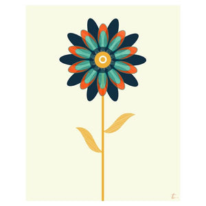 Nordic Floral Illustration | Scandi Inspired Wall Art Tracey Capone Photography