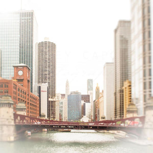 On Lake Street | Chicago Skyline Art-Tracey Capone Photography
