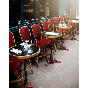 Paris Cafe Photography | Red Chair And Table Photograph Tracey Capone Photography