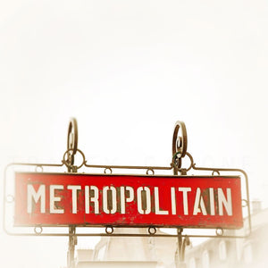 Paris Metro Sign Photograph | Colorful Travel Home Decor Tracey Capone Photography