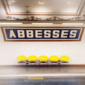 Abbesses | Paris Metro Sign Photography - Tracey Capone Photography