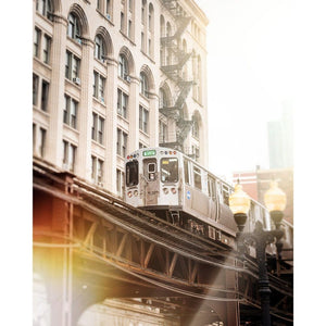 Photograph Of Chicago L Train | Green Line In South Loop Tracey Capone Photography
