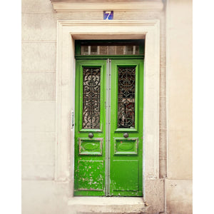 Photograph Of Green Door In Paris | Wall Art Print Tracey Capone Photography
