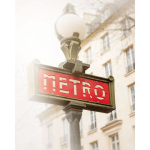 Photograph Of Paris Metro Sign In Place Des Vosges | Travel Photography Tracey Capone Photography