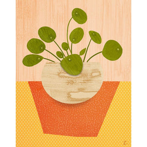 Pilea Plant Illustration // Chinese Money Plant Wall Art Tracey Capone Photography
