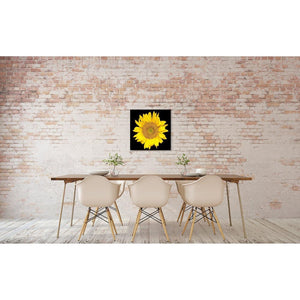 Portrait of a Yellow Sunflower No. 1-Wood Mounted Photograph-Tracey Capone Photography