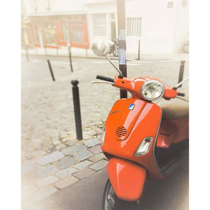 Ride | Red Vespa in Paris-Tracey Capone Photography