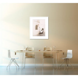 Roma | White Scooter In Rome-Framed Archival Lustre Print-Tracey Capone Photography