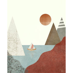 Sailboat Illustration | Nautical Wall Decor Tracey Capone Photography