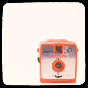 Satellite | Red Vintage Imperial Camera-Tracey Capone Photography