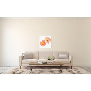 Softly No 2 | Two Pink Poppies-Ready to Hang Birch Wood Mounted Photograph-Tracey Capone Photography