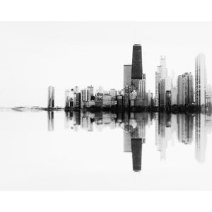 SoundWave in B+W | Abstract Chicago Skyline-Tracey Capone Photography
