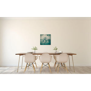 The Dance | Teal Jellyfish Photograph-Lustre Print in Frame-Tracey Capone Photography