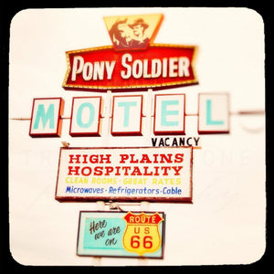 The Pony Soldier | Motel Sign on Route 66-Tracey Capone Photography