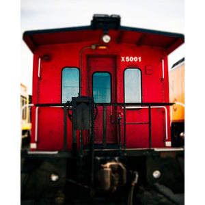 The Red Caboose | Vintage Train Decor-Tracey Capone Photography