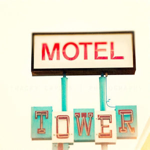The Tower | Motel Sign on Route 66-Tracey Capone Photography