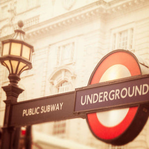 The Underground | London Tube Sign-Tracey Capone Photography