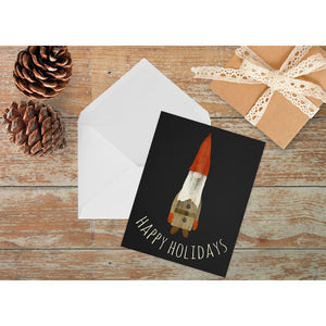 The Woodsman Holiday Card | A2 Size Note Cards