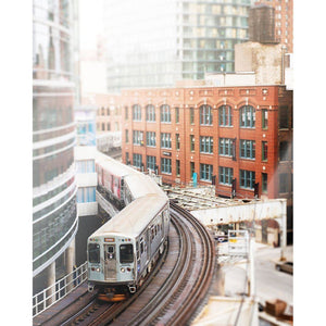 To the Mart | Chicago Brown Line Train-Tracey Capone Photography