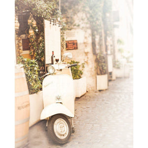 Trastevere | White Vespa Scooter, Rome-Tracey Capone Photography