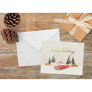 Vintage Chevy Nomad Holiday Note Card | A2 Size Blank Cards
