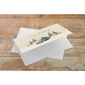 Vintage Ford Truck Holiday Note Card | A2 Size Blank Cards