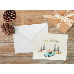 Vintage Lincoln Holiday Note Card | A2 Size Blank Cards