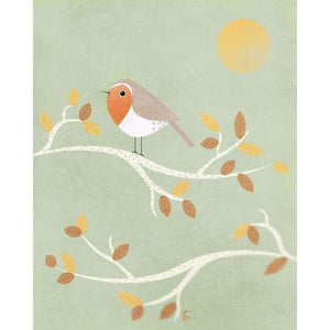 Winter Robin Illustration | Nature Themed Nursery Art Tracey Capone Photography