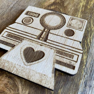 Wood Instant Camera Magnet | Polaroid Illustration