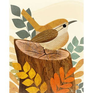 Wren Illustration | Bird Wall Art | Nature Inspired Artwork