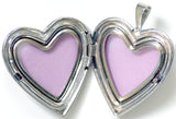 Sterling Silver I Love You with Rose Heart Locket