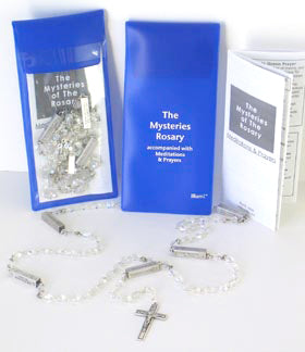Mysteries Rosary Beads Prayers and Package