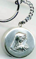 our lady of sorrows rosary box key chain