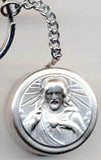 sacred heart rosary box key chain
