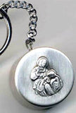 saint anne rosary box key chain