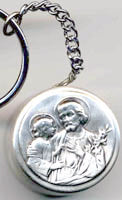 Saint Joseph Rosary Box Key Chain