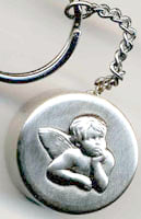 guardian angel communion rosary box keychain