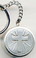 communion rosary box keychain