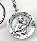 our lady of mount carmel rosary box keychain