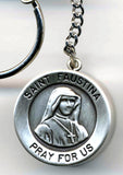 Saint Faustina Rosary Box Key Chain