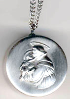 saint anthony rosary box pendant